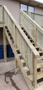 treated lumber wood deck stairs contractor installation repair replacement deck decks decking lexington kentucky