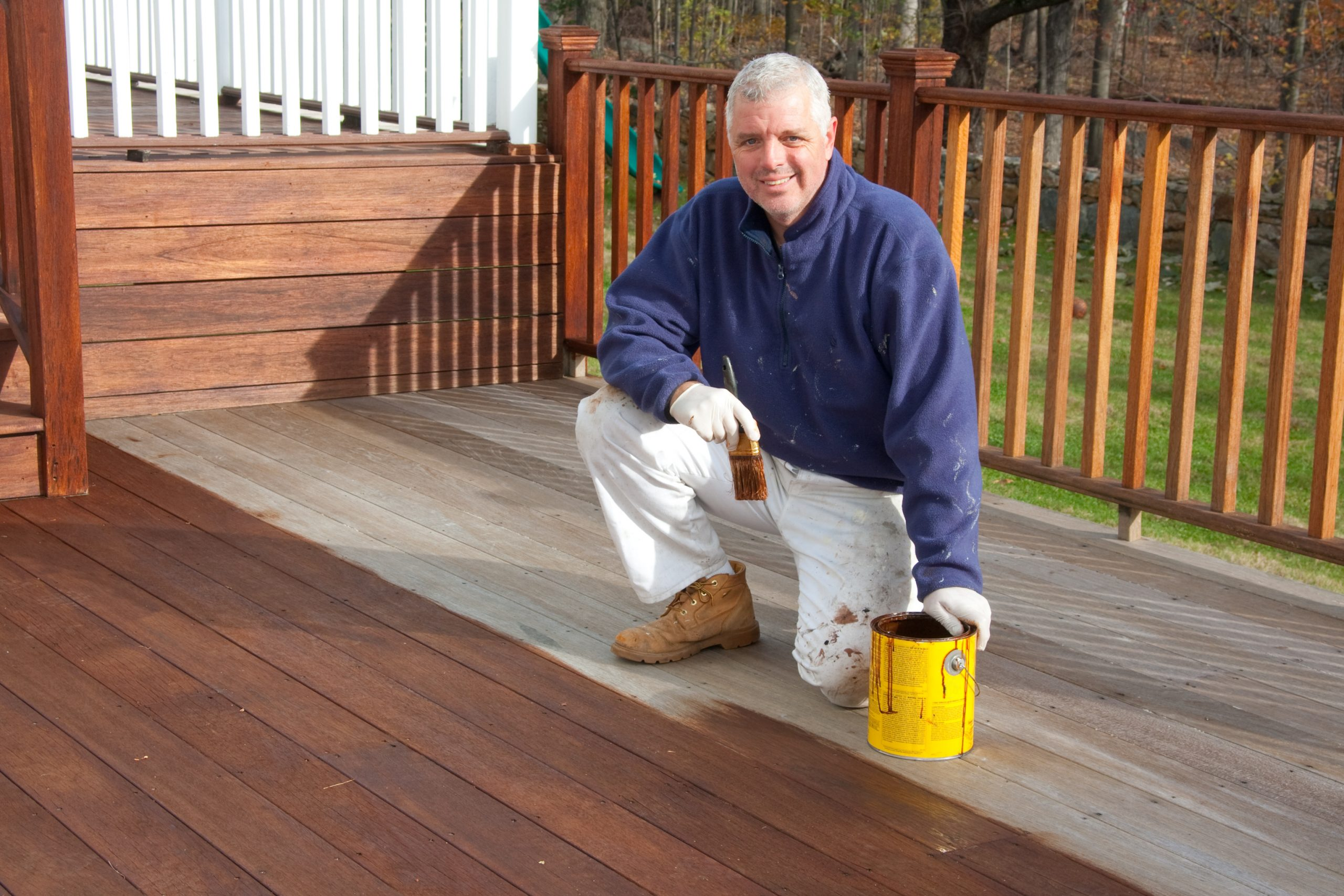 deck staining stain sealing sealed weather protection service quality lexington kentucky deck builder contractors company construction excellent