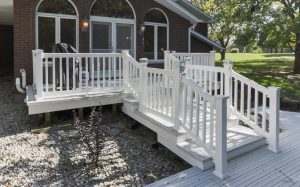 composite deck builder contractor construction company build white deck decking decks weather resistant best deck materials material hire customer