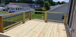 awesome new wood deck elevated backyard outdoor construction lexington kentucky #1 quality deck builder builders construction company