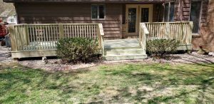 excellent new porch wood cedar decking pressure treated wooden deck excellent contractor best in kentucky