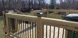 deck rail deck lights custom decking deck builder lexington kentucky
